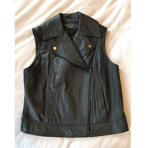 Vince Leather Vest size small